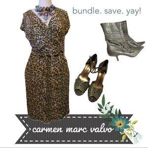 Leopard Animal Print Faux Wrap Dress